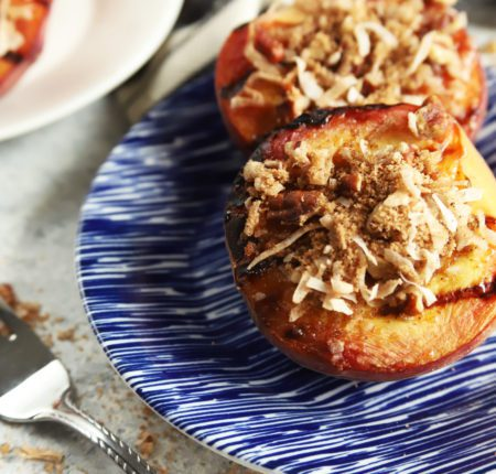 Grilled Peaches with Crumble_2734