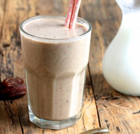 Healthy caramel protein smoothie