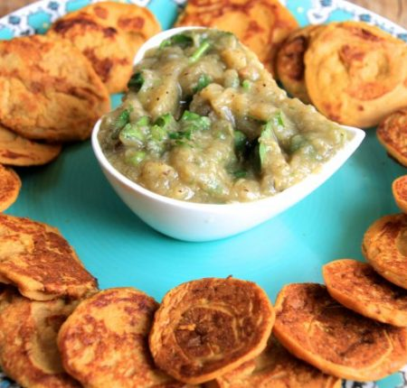Sweet Potato Blinis & Aubergine Caviar