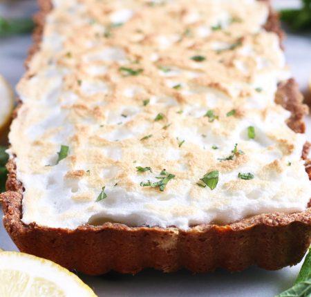 Lemon Mint Meringue Tart